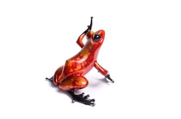"""Firecracker, Medium: Bronze Release: 2014 Edition: 500 Catalog: BF185 Size: 4"""" x 4"""" x 3.75"""" Artist: Frogman"""