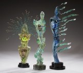 "Figurative-Pieces, ""Ritual and Wind Spirits"" Medium: Blown and Cast Glass Size: Artist: Susan Gott"