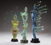 "Figurative-Pieces, ""Ritual and Wind Spirits"" Medium: Blown and Cast Glass Size: Artist: Susan Gott"