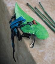 "Hide and Seek, Medium: Bronze Catalog: BF50 Size: 10.25"" x 10.25"" x 4.75"" Artist: Frogman"