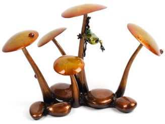 "Hiding Out, Medium: Bronze Catalog: BF129 Size: 6"" x 9.5"" x 5.5"" Artist: Frogman"