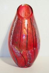 "China-Red-Cut-Vase, Medium: Hand-blown Glass Canvas Size: 18"" x 8"" x 8"" Artist: Tim Lazer #20112"