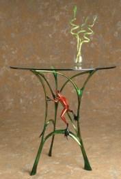 "Let's Do Lunch, Medium: Bronze Catalog: BF70 Size: 30"" x 24.75"" x 21.5"" Artist: Frogman"
