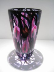 "Niobium-Purple-Pink-Vine-Vase, Medium: Glass Canvas Size: 12"" x 7"" Artist: Daniel Lotton"