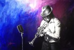 "Trumpet-Solo,Medium: Original Acrylic on Canvas Canvas Size: 24"" x 36"" Artist: Shawn Macke"