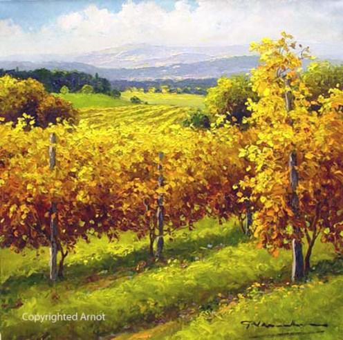 "Views Of The Vineyard, Medium: Oil on Canvas Size: 20"" x 20"" Artist: Gerhard Nesvadba #15556 Price: $4,175.00 REDUCED: $2,100.00"