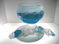 "Offshore-Ice-Bucket, Medium: Glass Size: 17"" x 12"" Artist: Caleb Nichols"