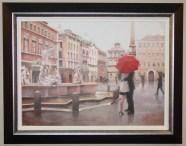 "Piazza-Passion, Medium: Original Oil on Canvas Size: 22"" x 30"" Framed Size: 29.25"" x 37.25"" Artist: Daniel del Orfano"