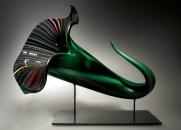 """Bloom-Cane, Medium: Hand-Blown Glass Size: 13"""" x 16"""" x 18"""" Artist: David Patchen"""
