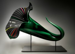 "Bloom-Cane, Medium: Hand-Blown Glass Size: 13"" x 16"" x 18"" Artist: David Patchen"