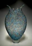 """Foglio-Muorine, Medium: Hand-Blown Glass Size: 21"""" x 4"""" x 13"""" Artist: David Patchen"""