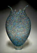 "Foglio-Muorine, Medium: Hand-Blown Glass Size: 21"" x 4"" x 13"" Artist: David Patchen"