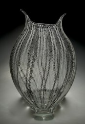 "Foglio-Zanfirico-Cane,Medium: Hand-Blown Glass Size: 19"" x 14"" x 12"" Artist: David Patchen"