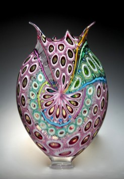 "Purple-Foglio, Medium: Hand-Blown Glass Size: 22"" x 14"" x 4"" Artist: David Patchen"