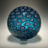 "Sphere-Blue, Medium: Hand-Blown Glass Size: 14"" x 14"" Artist: David Patchen"