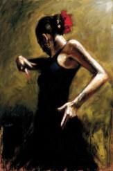 "Dancer-In-Black, Medium: Hand Embellished Giclee Size: 29 x 44"" Artist: Fabian Perez #16915 Price: $3,700.00 REDUCED: $2,400.00"