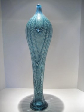"Sage-Vase, Medium: Glass Size: 24.5"" x 6"" x 6"" Artist: Kenny Pieper"