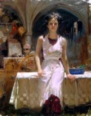 "Deborah-Revisited, Medium: Hand Embellished Giclee Size: 38"" x 30"" Artist: Pino"