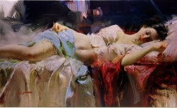 "Everlasting-Beauty, Medium: Hand Embellished Giclee Size: 22"" x 38"" Artist: Pino"