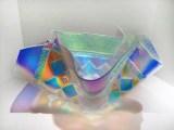 "Medium: Glass Size: 11"" x 19"" x 13"" Artist: Gina Poppe"