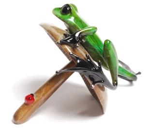 "Portobello, Medium: Bronze Release: 2013 Edition: 2500 AP/100 Catalog: BF172 Size: 5.5"" x 5.25"" x 3.5"" Artist: Frogman"
