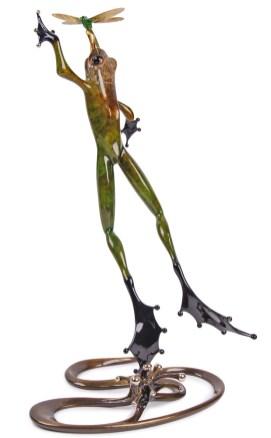 "Quantum Leap, Medium: Bronze Catalog: BF124 Size: 21.25"" x 12.25"" x 11"" Artist: Frogman"