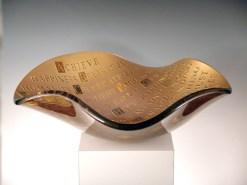 "ABC-ofLife, Medium: Glass Size: 4"" x 22"" x 22"" Artist: Stephen Schlanser"