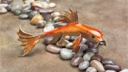 "Small Fry, Medium: Bronze Catalog: BK1 Size: 7.5"" x 3"" x 3.25"" Artist: Frogman"