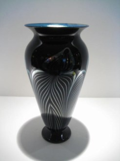 Silver Black Phoenix Vase, Medium: Glass Artist: Strini #19523 Price: $690.00 REDUCED: $495.00
