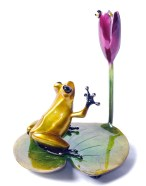 """Water Lily, Medium: Bronze Release: 2011 Edition: 2000 Catalog: BF171 Size: 5.75"""" x 4.75"""" x 4.75"""" Artist: Frogman"""