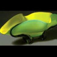 Lemon Yellow Bowl Hand-Blown Glass 9.75 x 27.5 x 17.25