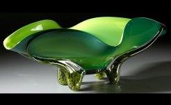 Morning Pine Bowl Hand-Blown Glass 9.75 x 27.5 x 17.25