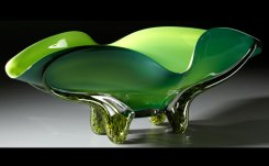 Morning Pine Bowl Hand-Blown Glass 9.75 x 27.5 x 17.25
