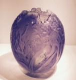 "Amethyst Butterfly Vase 11.5"" x9.5"""