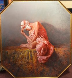 "Shahrazad 38"" x 43"" #20845 Oil on Canvas Artist: Angelo Vadala"
