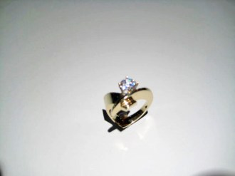 14K Gold C.Z. Ring Artist: Eddie Sakamoto Catalog: 607-98-2