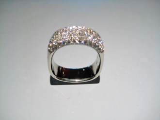 18K White Gold Ring with 1.00c Diamond Artist: Jean Francois Albert Catalog: 600-67-1