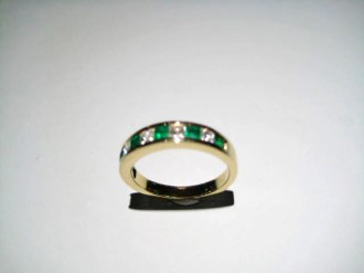 18K Gold Ring with .70c Emerald and .59c Diamond Artist: Bareket Catalog: 610-00-4 #19308 Price: $4,500.00 REDUCED: $1,500.00