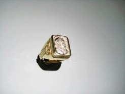 18K Y&W Gold Soldier Ring Artist: Bruce Tapley Catalog: 895-03-7 #19297 Price: $5,500.00 REDUCED: $1,950.00