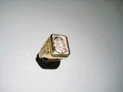 18K Y&W Gold Soldier Ring Artist: Bruce Tapley Catalog: 895-03-7