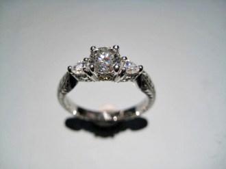 Platinum Ring with .56c Diamond Artist: Varna Catalog: 801-47-7