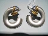 Platinum and 18K Gold Earrings with Diamond Artist: Rodolph Erdel Catalog: 602-11-0