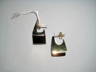 18K Gold Earrings Artist: Michael Sugarman Catalog: 609-16-7