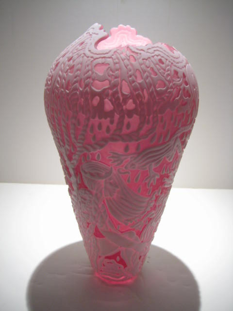 Pink Cameo Vase Artist: Marialyce Hawke Catalog: 603-65-8