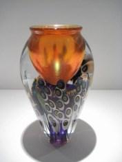 "Holly Hock Vase Artist: David Lotton Medium: Glass Size: 6.5"" x 6.5"" x 11"" Catalog: 805-66-0 #19368"
