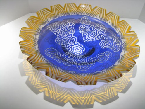 Topax Ceremonial Bowl Artist: Deborah May Catalog: 546-26-1