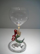 Ascending Mermaid Goblet Artist: Milow Townsend Catalog: 447-68-5 #19615 Price:$350.00 REDUCED: $195.00