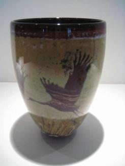 Crane Vase Artist: Paul Bendzunas Catalog: 800-98-2