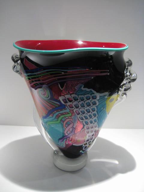 Medium High Wave Vase Artist: Ridabock Catalog: 211-99-2