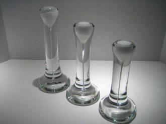 Set of Three Candlesticks Artist: Steve Adams Catalog: 522-47-02